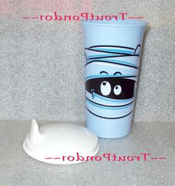 Tupperware 10 Oz Big Bell Tumbler Halloween Mummy Design Blu