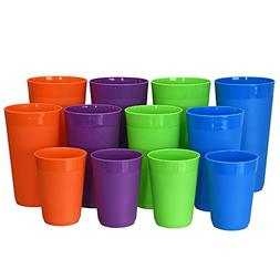 12-Piece Newport Unbreakable Plastic Tumblers | four each 10