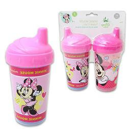 2pk Spill Proof DISNEY MINNIE MOUSE Sippy Cups Toddler Kids