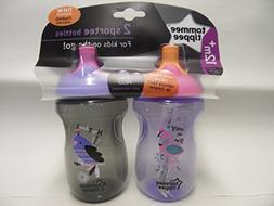 Tommee Tippee - 2 Sportee Bottles Purple/Grey