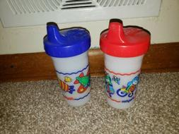 2 Vintage 1997 Playtex Plastic Sippy Cups Cute Design