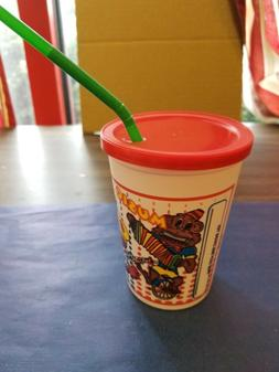 KID'S SIPPY 12 OUNCE PLASTIC CUPS COMBO WITH LIDS/STRAWS