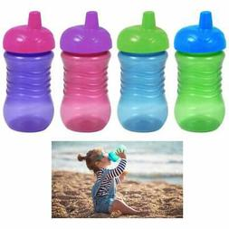 2pc Spill Proof Tumbler Cups Lids Toddler Kid Sippy Cup Drin