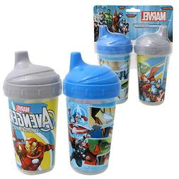 2pk Spill Proof MARVEL AVENGERS Sippy Cups Toddler Kids Boys