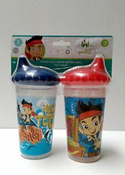 2pk Spill Proof DISNEY JAKE & THE PIRATES Sippy Cups Toddler