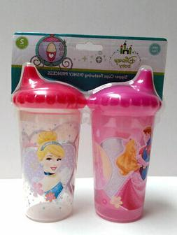 2pk Spill Proof DISNEY PRINCESS Sippy Cups Toddler Kids Girl