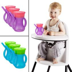 3 Evriholder 2-in-1 Sippy Snacky Cups Built-In Straw Handles