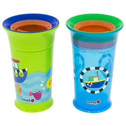 Sassy Sassy 360 Grow up Cup  Spoutless Sippy Cup, Blue/Green
