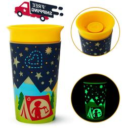 360 Sippy Cup Glow Leak Spill Proof Any Angle Toddler Kid Tr
