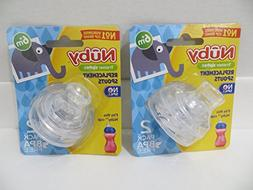 4 Nuby Super Spouts Replacements for 10 Oz Super Spout Easy