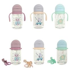 420ML Baby Learning Drinking Water Bottles Feeding <font><b>
