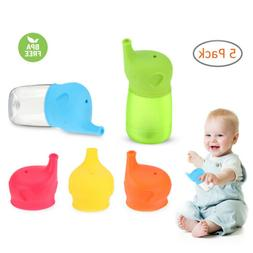 5x Toddlers Babies BPA-Free Silicone Sippy Lids For Any Cup