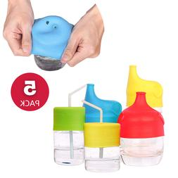 5 Silicone Sippy Cup Lids for Babies Toddlers Kids Spill-Pro
