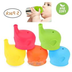 5x Silicone Sippy Cup Lids Kids Toddler Spill Proof Trainer