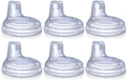 Nuby 6 Pack Replacement Silicone Spout Baby Bottle Nipples S