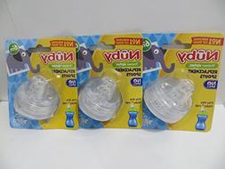 6 Nuby Sippy Gripper Replacement Spouts  for the 10 Oz Tall