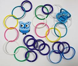 The Drop Stoppers Bundle 6, Pastel Rings, Blue Owl Teether,