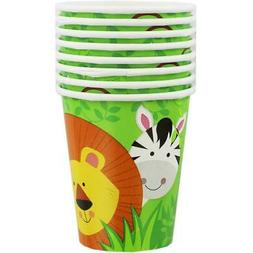 Safari Animals Style 2 pack nuspin kids 8 oz Zoomi Straw Sippy Cup