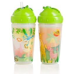 Evenflo Feeding Zoo Friends Insulated Straw Cups for Baby an