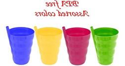 Green Direct Cup With Straw 10 Oz Plastic Cup with Built in