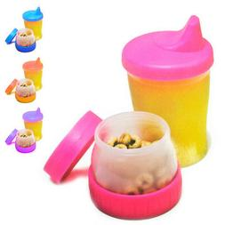 Mommy's Helper Sippy Cup Snack No-Spill Cereal Compartment C