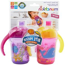 Munchkin Click Lock 7oz Bite Proof Decorated Sippy cup, Trai