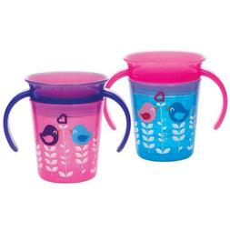 Munchkin Miracle 360 Trainer Cup, Pink/Blue, 2 Count