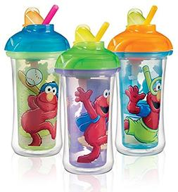 Munchkin Sesame Street Elmo Click Lock Insulated Straw Cups