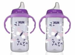 NUK 10 Ounce Jungle Large Learner Cup With Handles, 2 Pack,