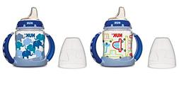 NUK Learner Cup Silicone Bundle Pack, Cars/Elephants, 5 Ounc