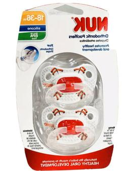 NUK Sports Puller Pacifier in Assorted Colors and Styles, 18