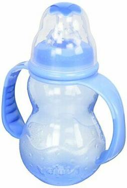 Nuby 3-Stage Standard Neck Bottle, 7 Ounce, Colors May Vary