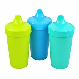 Re-Play Made in The USA 3pk No Spill Sippy Cups for Baby, To