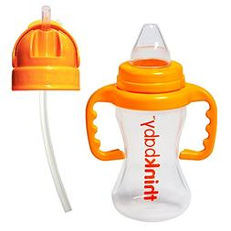 Thinkbaby BPA Free No Spill Sippy Cup with Straw Bottle Conv