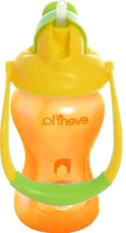 Evenflo Advanced Straw Cup with Swinging Handle, YellowithOr