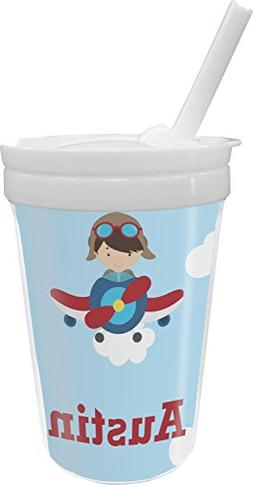 Airplane & Pilot Sippy Cup with Straw