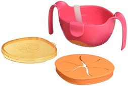 b.box 3 in 1 Bowl with Lid and Straw & Snack Insert | 6 Mont