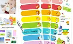 Baby Bottle Labels for Daycare Self-Laminating Waterproof Wr