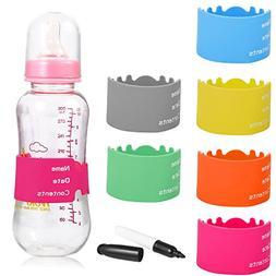 verygoo Baby Bottle Labels, Durable Writable Reusable Silico