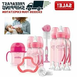Baby Bottles Feeding Supplies Gift Set Silicone Teether Sipp