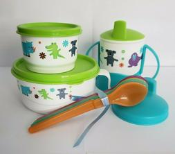Tupperware Baby Feeding Set Eco Baby Animals Spoons Sippy Cu