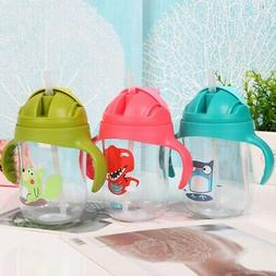 Baby Kids Child Leakproof Water Cup Learning Drinking Bottle
