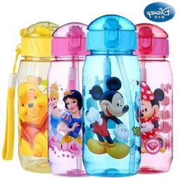 Baby Kids Children Disney School Drinking Water Straw Bottle