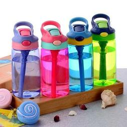 Baby Kids Water Bottles Cup Learn Drinking Straw Juice Bottl