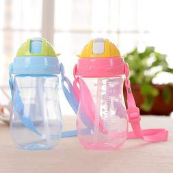 Baby's 350ml Feeding Water Bottles With Strap Learning <font