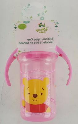 DISNEY BABY SILICONE SIPPY CUP WINNIE THE POOH AND TIGGER TO