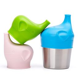 BBBiteme Baby Sippy Cup Lids - Spill Proof BPA Free Elephant