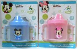 Baby Sippy Cup Disney MICKEY MINNIE MOUSE Blue Pink Toddler
