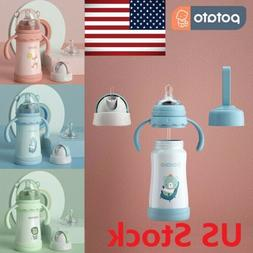 POTATO Baby Thermos Cup Water Bottle for Kids, 9 oz Stainles