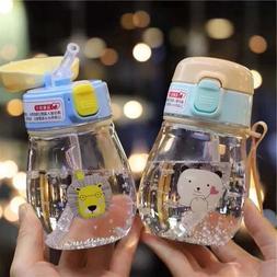 Baby Water Drinking Bottle Straw Feeding Sippy Cup Kid Milk